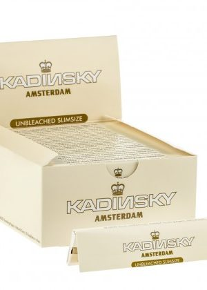 Kadinsky Amsterdam Unbleached Slimsize Rolling Papers | Box of 50 Packs