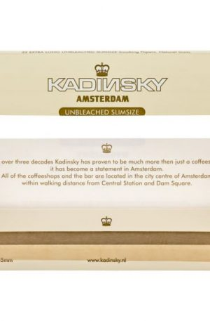 Kadinsky Amsterdam Unbleached Slimsize Rolling Papers | Single Pack