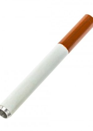 Cigarette Style One-Hitter Pipe with Brown Filter