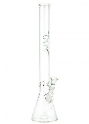 G-Spot Glass Beaker Ice Bong with Flame Polished Logo | 55cm
