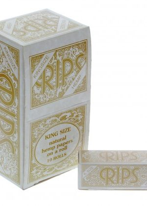 RIPS Hemp King Size Rolling Paper Rolls – Box of 10 Rolls