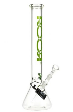 ROOR Little Sista Beaker Base 7mm Glass Ice Bong | Green Logo | 14.5mm