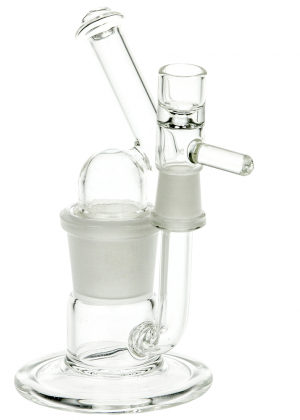 Clear Glass Bubbler Detachable Tube with Mouthpiece