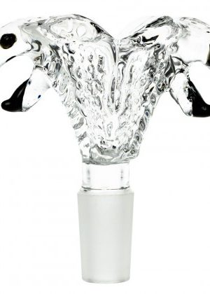 Glass Double Cobra Head Bowl | Clear