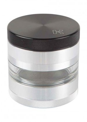 Kannastör 2.5 inch Aluminium 4-part Grinder | Solid Top & Clear Jar