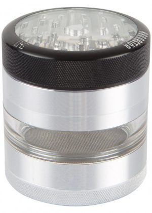 Kannastör 2.2 inch Aluminium 4-part Grinder | Clear Top & Clear Jar