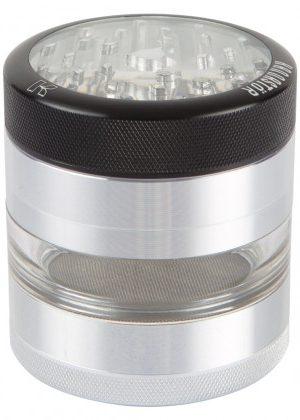 Kannastör 2.2 inch Aluminium 4-part Grinder | Clear Top & Clear Jar