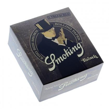 Smoking Brown King Size Slim Rolling Papers – Box of 50 Packs