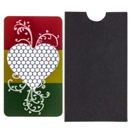 Colored Stainless Steel Herb Grater | Rasta Heart – 50% SALE Special