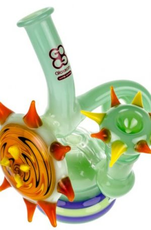 Glasscity Limited Edition Mint Green Bubbler with Worked Disc