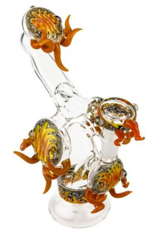 Glasscity Limited Edition Flaming Bubbler with Reversals