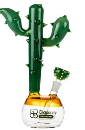 Glasscity Limited Edition Bubble Base Cactus Bong with Showerhead Perc