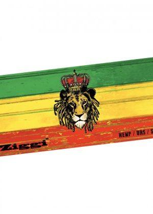 Ziggi – Rasta Lion King Size Slim Hemp Rolling Papers Plus Filter Tips – Single Pack